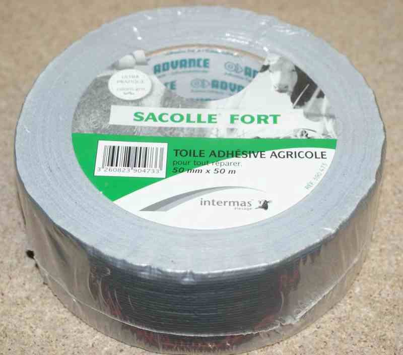 ruban adh 233 sif sacolle fort gris 50mm x 50m mef